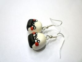 Kawaii Onigiri earrings by TenereDelizie