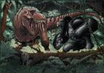 Trex vs King Kong by wohoo19m