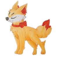 Fennekin Sticker by cattuccino