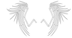 Skeletal Wings-Tattoo Design by VictoriaTriip