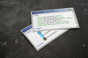 Notepad Programmer Business Card Design by Lemongraphic