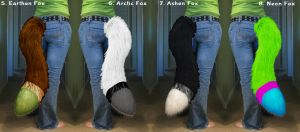 v2.4 Examples of Custom 3 Tone Furry Fox/Wolf Tail by SPPlushies