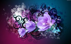 Enchanted Purple Blossoms by StarwaltDesign