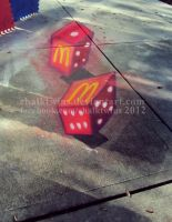 McDonald's Monopoly Dice by ChalkTwins