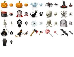 Desktop Halloween Icons by Ikont