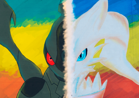 Dark and Light/Zekrom and Reshiram by TimeLordNicko123