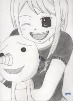 Lucy and Plue - Fairy Tail by Chemicalgirl7