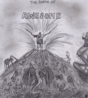 The Birth of Awesome by littlemissysg