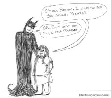 Batman and Little Martha by brensey