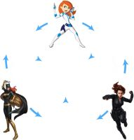 Red Haired heroines Hexafusion WIP by Primal-Lord