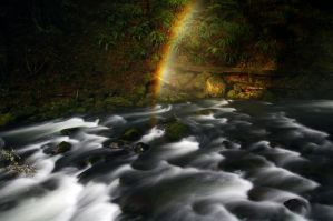 Majestic Falls Rainbow by greglief