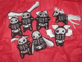Skelly Plushies by WillowForrestall