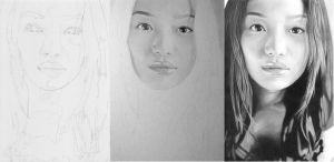 Shin Min Ah Progress by NicoleHaeYoung