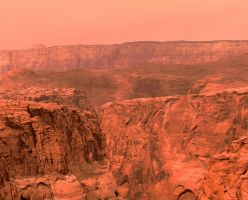 Mars landscape from photo 06 by Ludo38