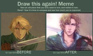 [Meme] Draw Link Again by teralilac