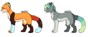 Feline Adoptables 1 :1 left: by Falkz-Adopts
