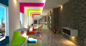 Colorful Office by dleafy
