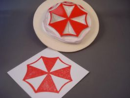 Umbrella Corporation stamp by dragonflycurls