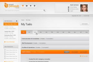 UI design for task management by Orilliea