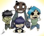 Chibi Gorillaz by pipsinpaddle