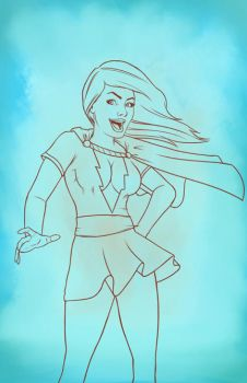 Mary Marvel WIP by PGMB