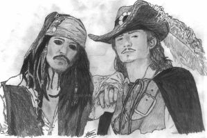 Johnny Depp and Orlando Bloom by simonsaz3
