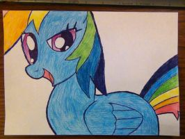 'My Artistic Most Wondrous Drawing of RainbowDash' by Nammi-namm