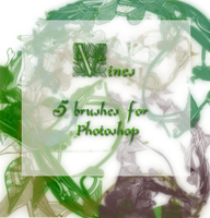 Vines- 5 Brushes for Photoshop by DementdPrncess