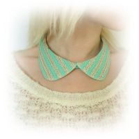 Mint Peter Pan Collar Necklace by IrenkaR