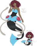 Commission - Nerida the Tentacruel Mermaid by Maipee-Chan