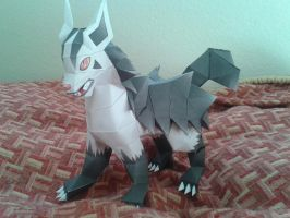 Mightyena Papercraft by Amber2002161