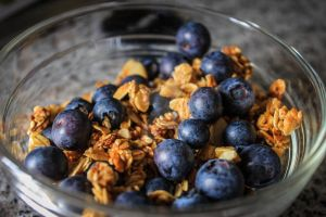Granola and Blueberries by Viviana4ver