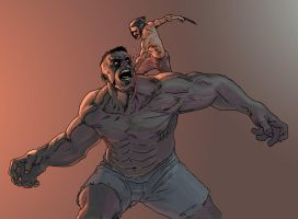 Hulk vs Wolverine by bear65