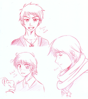 AP Hetalia sketches page 1 by Tabikat