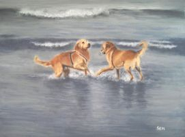 Water Dogs by archiejake