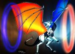 Portal Dragon by cookiegirl14