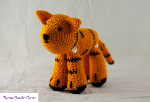 Jointed Amigurumi Tiger by karenscrochetcorner