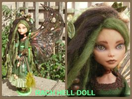 monster high custom repaint Autumn Fairy mh by Rach-Hells-Dollhaus