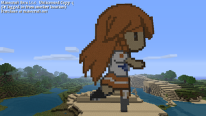 Minecraft Pixel Art Mirai-chan by Kamiye12
