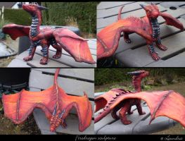 Firedragon sculpture by Leundra