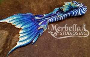 Sea Dragon Mermaid Tail Back Silicone Swimable by MerBellas