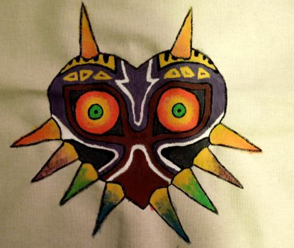 Majora's Mask - acrylic on canvas by raena-nayrue