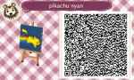 Animal crossing new leaf qr code pika nyan! by alucardserasfangirl