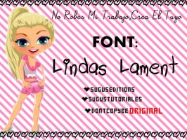 Lindas Lament Font by PinkLifeEditions