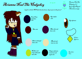 Arianna Noel The Hedgehog -REFERENCE SHEET- by OneHellOfAFiance