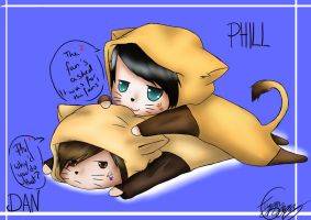Dan and Phil bromance by shardaep900