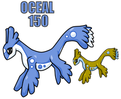 Fakemon 150 - Oceal by yellowdrakex