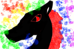 Rainbow Inferno Wolf by Half-SnakeCole