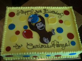 Curious George Butter Cream Cake by Spudnuts