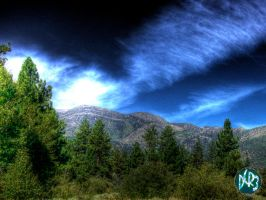 mountain clouds hdr by DCRIII
